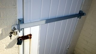 master lock door security bar instructions