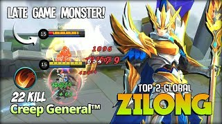 22 Kill Zilong with Execute! Monster of Late Game?! Creep General™ Top 2 Global Zilong ~ MLBB