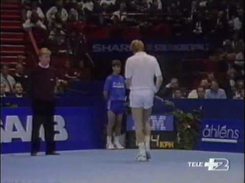 エドバーグ(エドベリ) Vs ベッカー - Atp Stoccolma 1990 - 決勝戦(ファイナル) e