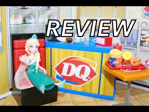 Miworld Dairy Queen Dq Review Mi World Playset Toy With Disney Frozen Elsa ~ Alltoycollector video