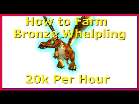 How to Farm the Bronze Whelpling - 20k Gold per hour in WoW