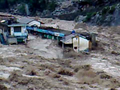 Flood In River Swat At Behrain 2 video