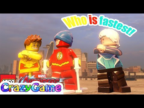 Quicksliver, The Flash, Kid Flash Who is fastest! in LEGO Marvel's Avengers MOD