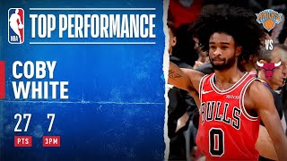 COBY Sets BULLS RECORD With 7 Made Threes In A Quarter