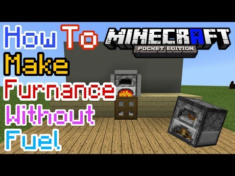 HOW TO MAKE FURNANCE WITHOUT FUEL IN MCPE | Minecraft PE #1