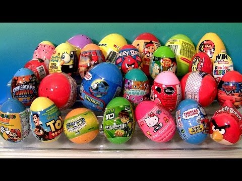 Here's another unboxing unwrapping of 27 surprise eggs from Disney Planes, Thomas the Tank Engine and Friends, Angry Birds Toys, Disney Pixar Cars with Wingo...