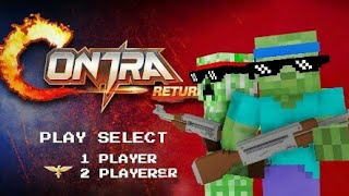Monster School : GARENA CONTRA: RETURN CHALLENGE - Minecraft Animation