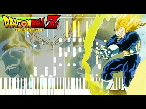 Dragon Ball Z OST - Vegeta Super Saiyan (Extended) | Piano Tutorial, ドラゴンボールZ【ピアノ】