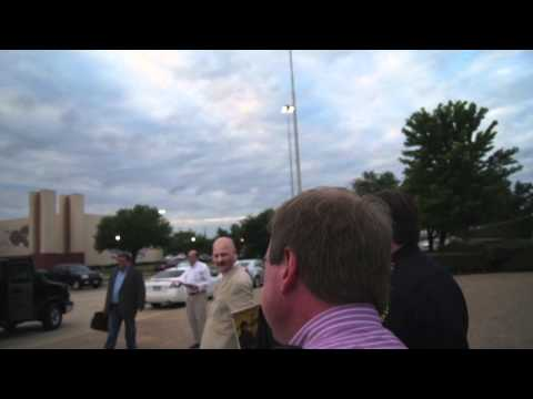 Phil Collins Leaving Hall of State in Dallas