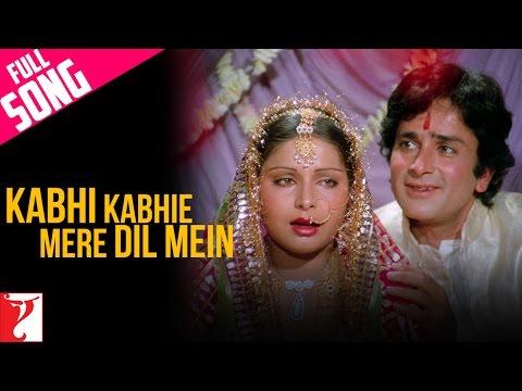 Kabhi Kabhie Mere Dil Mein - Female - Full Song   Kabhi Kabhie
