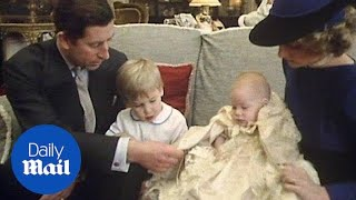 Royal family seen gathered in 1984 for Prince Harry's christening