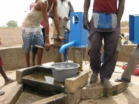 Gambia Lifewater Project -  5-25-12 Choya Post Bluepump Water Charity Fairwater Jeremy Mak