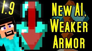 Minecraft WEAKER ARMOR, Player Collisions, MOB AI UPDATE & More (1.9)