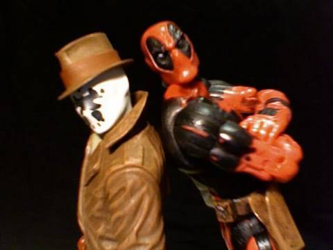 Rorschach and Deadpool (Marvel/DC/Buddy Cop Parody)