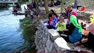 سباحة وصيد في احتفالات «شم النسيم» بالمحلة