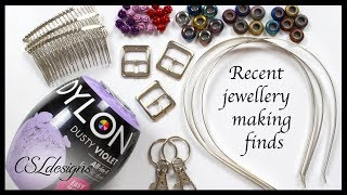 Jewellery making haul ⎮ New and interesting finds to experiment with 😃