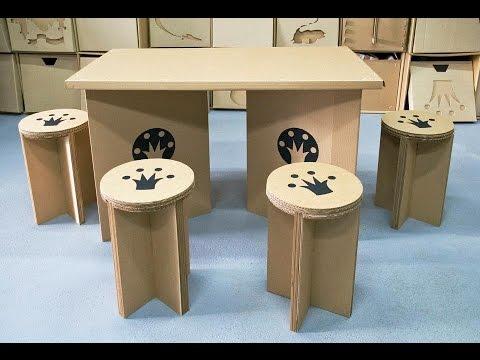 Как сделать мебель из картона с фото