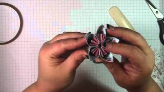 Kusudama Origami Flowers Tutorial The Stampin' Up! Way