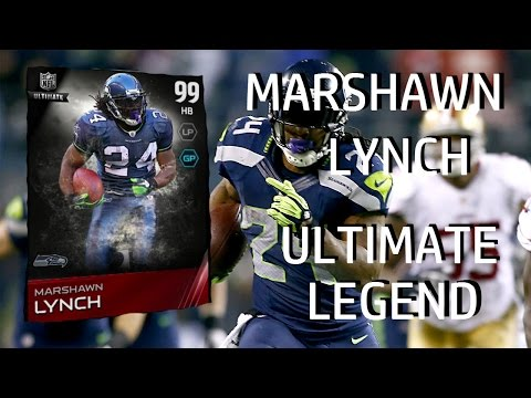 Madden 15 Ultimate Team- MUT 15 Card Review- 99 Overall Ultimate Legend Marshawn Lynch