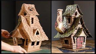 ❣DIY Witch House Using Cardboard❣