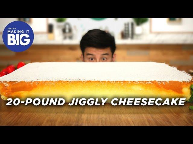 I Made A Giant 20-Pound Jiggly Cheesecake • Tasty thumbnail