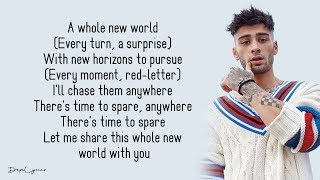 ZAYN, Zhavia Ward - A Whole New World (Lyrics) 🎵