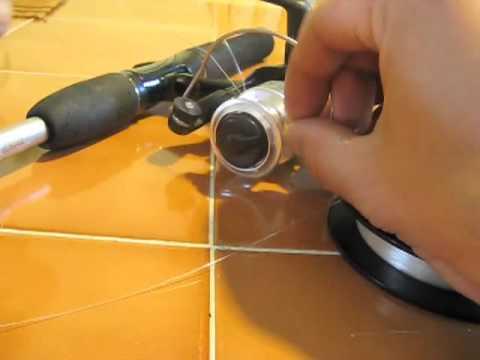 comment monter le fil sur un moulinet