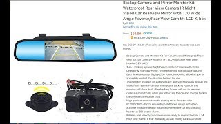 How To Install A Backup Camera Rear-view Mirror Kit From Amazon