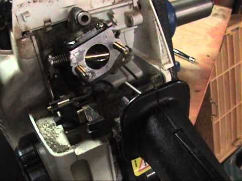 Stihl MS 170 Chainsaw old carburetor removal 12/3/11