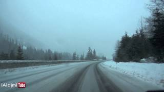 Driving through Coquihalla Highway in Canada