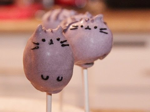 Pusheen the Cat Cake Pops - QUAKE N BAKE