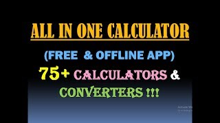ALL IN ONE CALCULATOR (FREE) - Converter & Calculator For Engineering, Finance, Health etc. [USA]