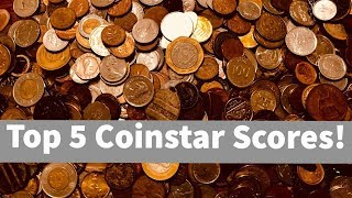 Top 5 Coinstar & Coin Sorting Machine Scores! Old Silver, Tokens, Hobo Coins!