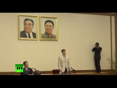 US student caught stealing N. Korean poster sheds tear, apologizes for 'severe' crime