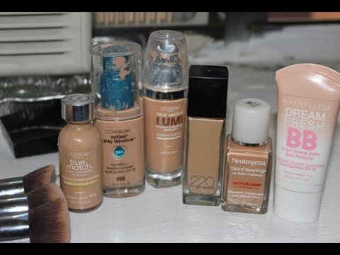 My Top Drugstore Foundations for Acne & Oily Skin