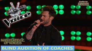 BLIND AUDITION OF COACHES ON THE VOICE [ PART 1 ]