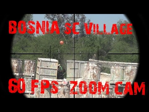 Bosnia, Paintball War at SC Village Private game.  Paintball GoPro w/ zoom cam