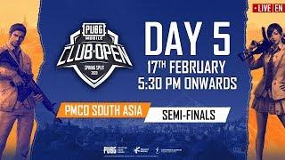 [EN] PMCO South Asia Semi Finals Day 5 | Spring Split A & C | PUBG MOBILE CLUB OPEN 2020