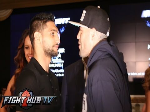 Khan vs. Collazo: Amir Khan and Luis Collazo MGM Grand arrivals