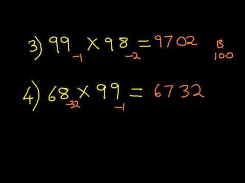 Vedic Math & Mental arithmetic : Nikhilam Method - 2 Digit Multiplication