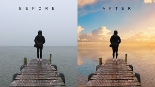 How to Change Overcast Photos into Awesome in Photoshop - Add Sunset to Boring Sky Easily & Quickly