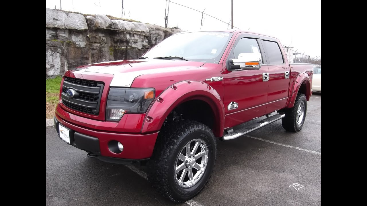 PROCOMP LIFTED 2013 FORD F-150 SUPERCREW FX4 RUBY RED ROCKY RIDGE