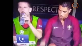 Những pha hài hước nhất của Christiano Ronaldo mùa Euro 2016