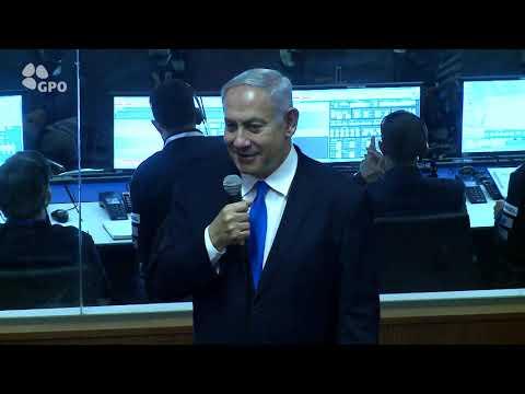 """רה""""מ נתניהו באירוע הצפייה של שיגור החללית הישראלית הראשונה """"בראשית"""""""
