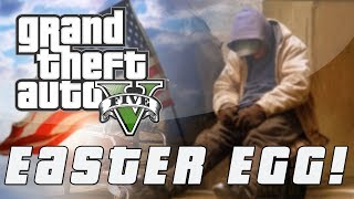 Grand Theft Auto 5 | Secret Homeless War Veteran Easter Egg!  (GTA V)