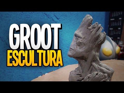 GROOT - ESCULTURA - Speedart!