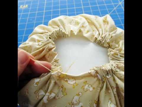 How To Make A Round Throw Pillow Cover : DIY with Andrea Baker - Gathered Pillow Tutorial - YouTube