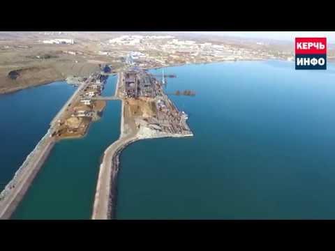 Съемка строительства Керченского моста с квадрокоптера 5 ноября 2016 года