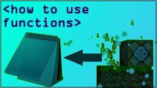 How to use Functions in Minecraft 1.12