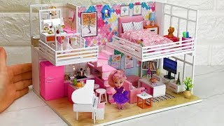 5DIY Barbie Dollhouse Rooms ~Bedroom, Bath room etc~